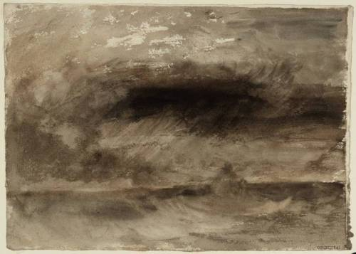 Storm at Sea circa 1824 by Joseph Mallord William Turner 1775-1851